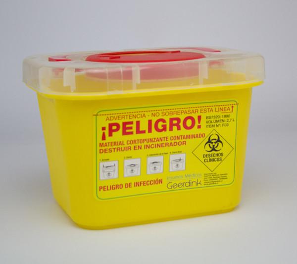 Corto punzante 2,7 litros plastico